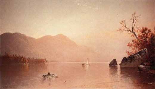 alfred thompson bricher autumn mist lake george new york painting