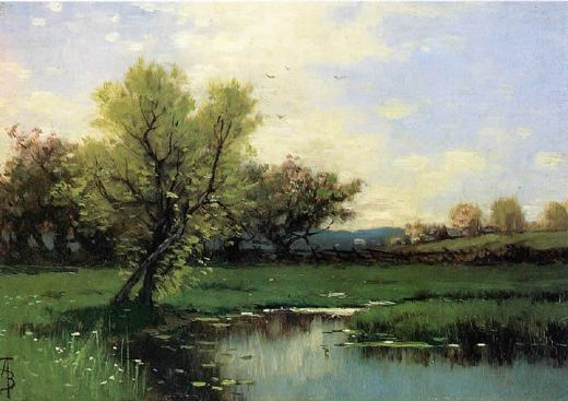 alfred thompson bricher springtime painting