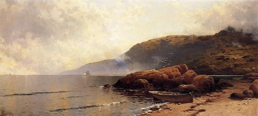 alfred thompson bricher summer day at grand manan painting