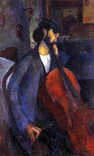 amedeo modigliani the cellist ii painting