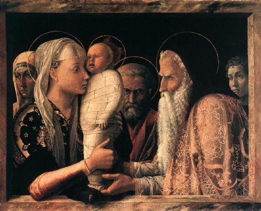 andrea mantegna presentation at the temple painting