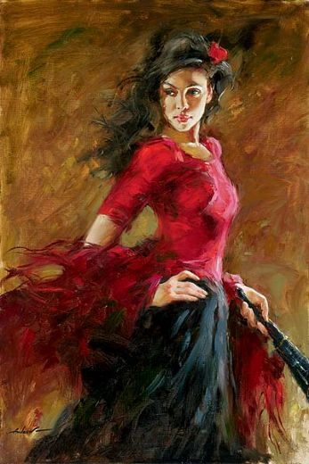 andrew atroshenko the fan dancer paintings