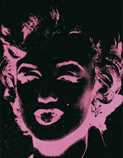 andy-warhol-pink-marilyn-reversal-86 painting