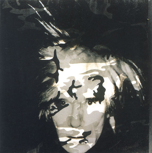 andy warhol self portrait with camoufla paintings