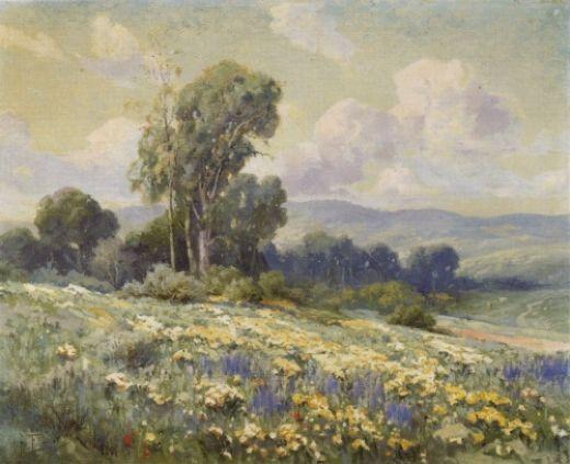 Blooming hillside painting angel espoy blooming hillside for Angel paintings for sale