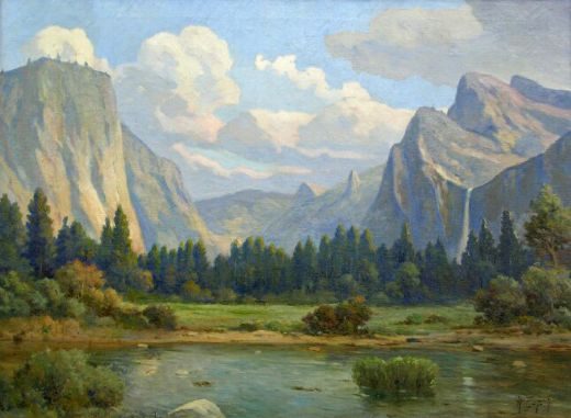 Angel espoy yosemite valley painting angel espoy for Angel paintings for sale