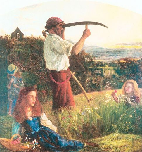 Tractor Mowing Painting : Shopping arthur hughes the mower painting
