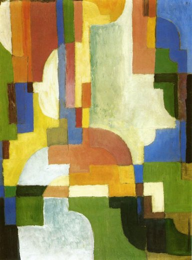august macke colored forms i paintings