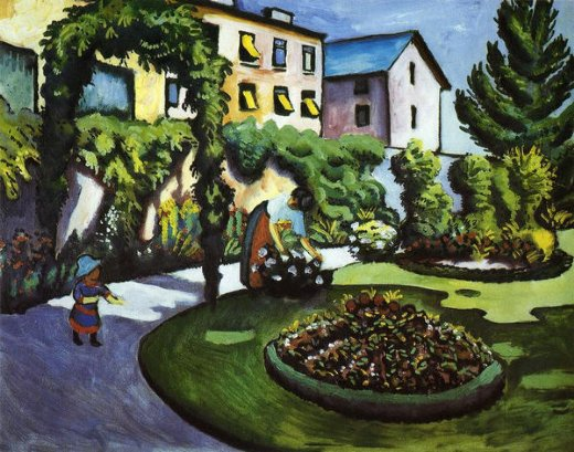 august macke garden picture painting