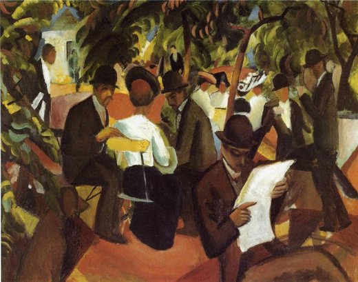 august macke garden restaurant painting