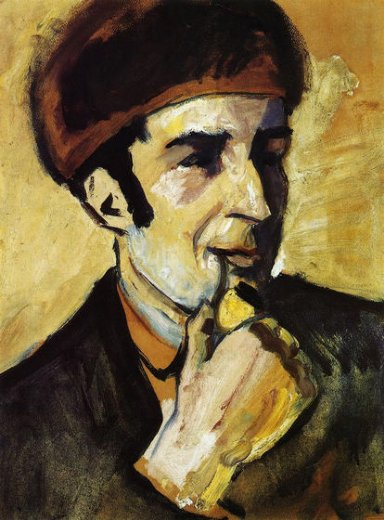 august macke portrait of franz marc oil painting