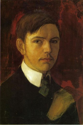 august macke self portrait painting