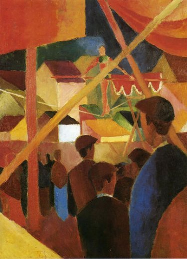 august macke tightrope walker posters