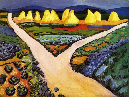august macke vegetable fields posters