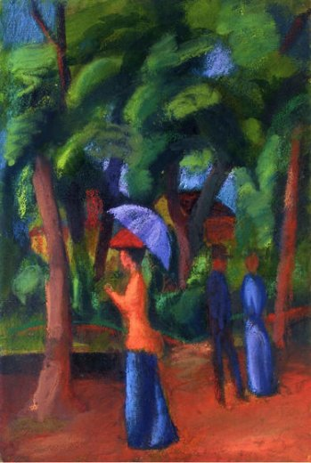 august macke walking in the park paintings