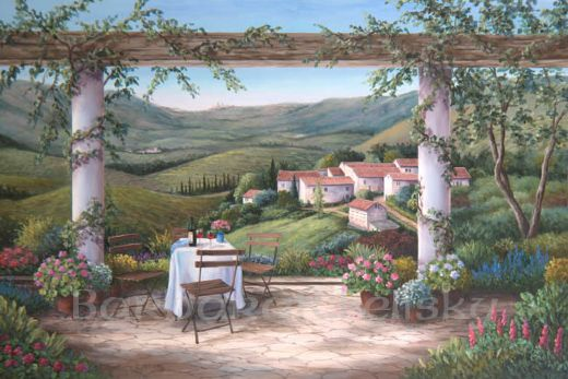 barbara felisky vineyard afternoon painting