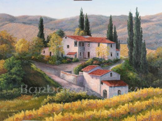 barbara felisky vineyard in autumn tuscany prints