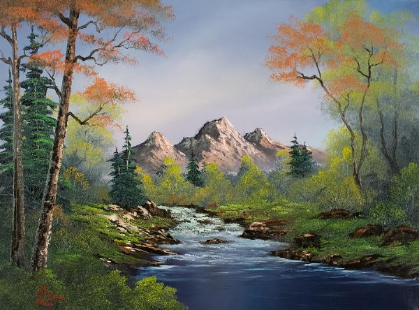 A touch of autumn painting bob ross a touch of autumn for Paintings for sale online