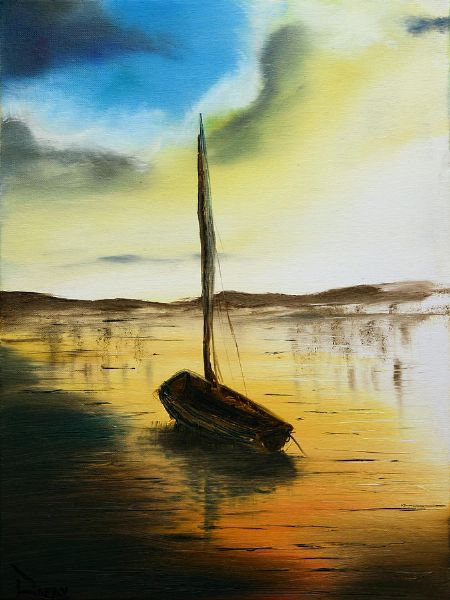 bob ross abandoned waters 85969 painting