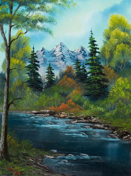 bob ross anglers haven 85972 painting