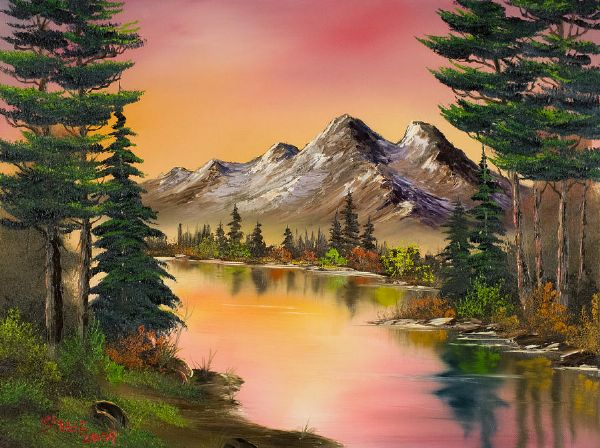 bob ross autumn fantasy 85978 painting