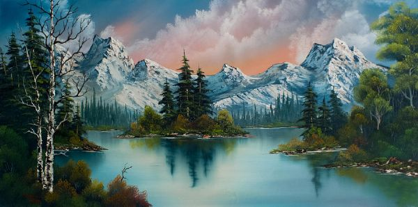 bob ross autumns glow 85983 painting