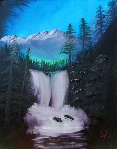Bob Ross Black Rock Falls Paintings
