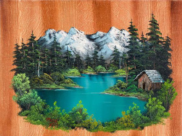 Bob Ross Fishermans Cabin Oil Painting Amp Bob Ross