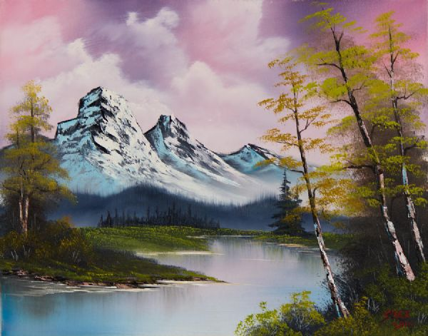bob ross pastel fall 86110 painting