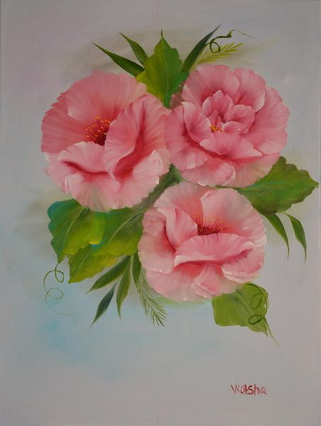 Pink roses painting bob ross pink roses paintings for sale bob ross pink roses paintings mightylinksfo