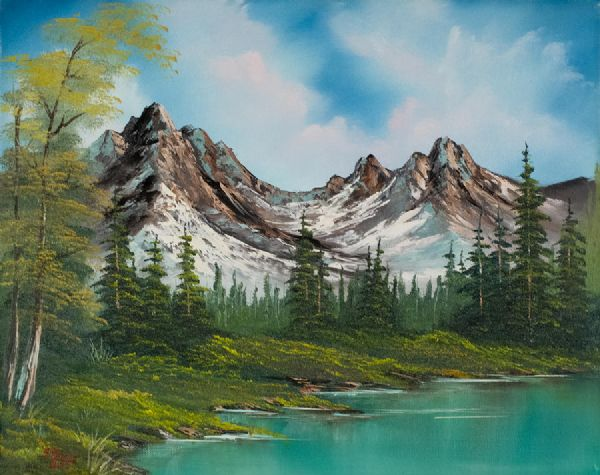Sawtooth Saddle Painting Bob Ross Sawtooth Saddle Paintings For Sale