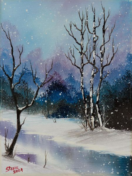 Bob Ross Snow Fall Magic Ii Oil Painting Amp Bob Ross Snow