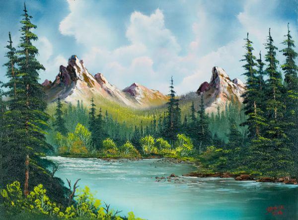 Bob ross twin peaks river painting bob ross twin peaks river bob ross twin peaks river paintings voltagebd Choice Image