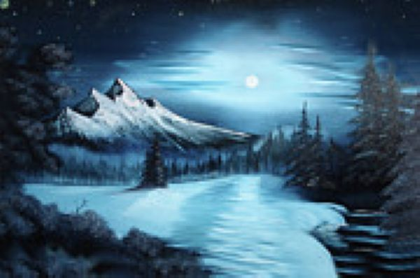 bob ross winter 86164 painting