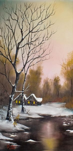 bob ross winter solace 86169 painting