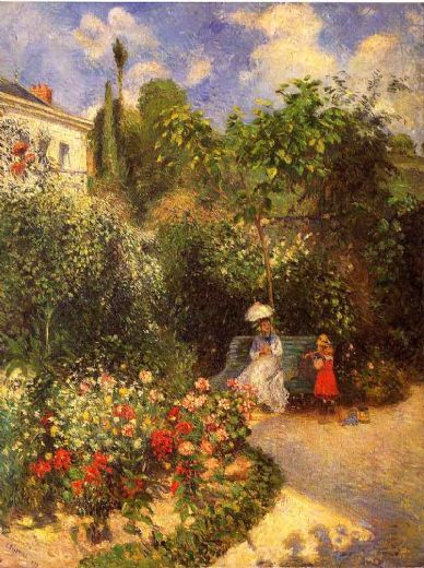 camille pissarro the garden at pontoise 1877 paintings