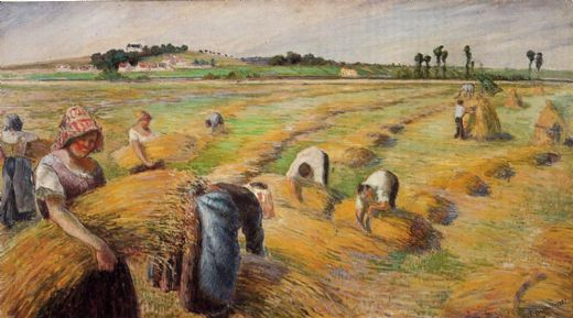 camille pissarro the harvest 1882 paintings
