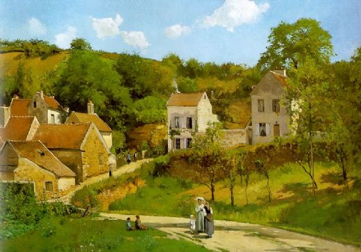 camille pissarro the hermitage at pontoise painting