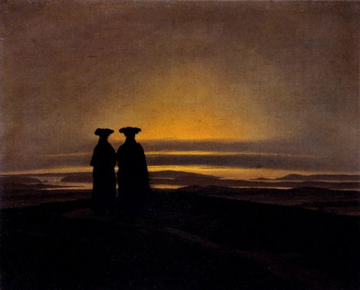 caspar david friedrich sunset painting