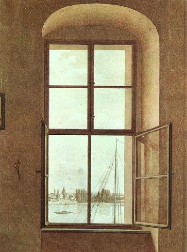caspar david friedrich view from the painter s studio painting
