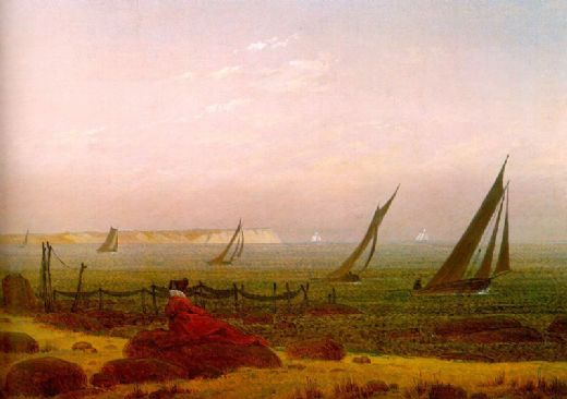 caspar david friedrich woman on the beach of rugen paintings