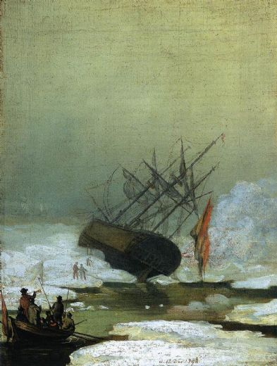 caspar david friedrich wreck in the sea of ice paintings