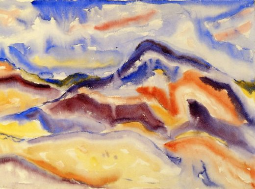 charles demuth abstract landscape painting