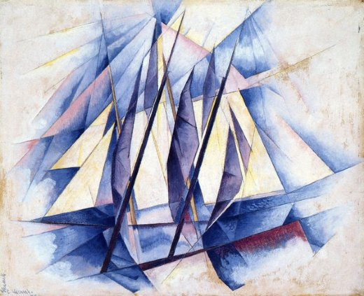 charles demuth sail in two movements painting