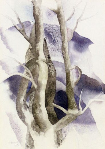 charles demuth tree forms paintings