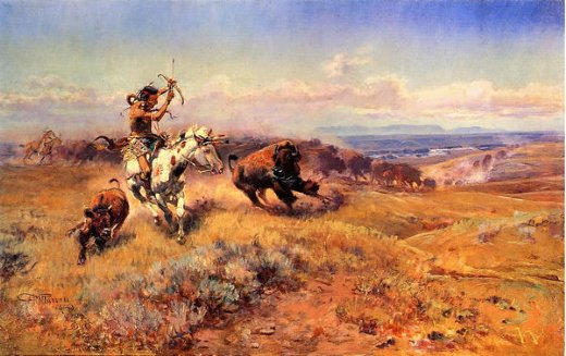 charles marion russell horse of the hunter painting
