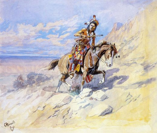 charles marion russell indian on horseback paintings