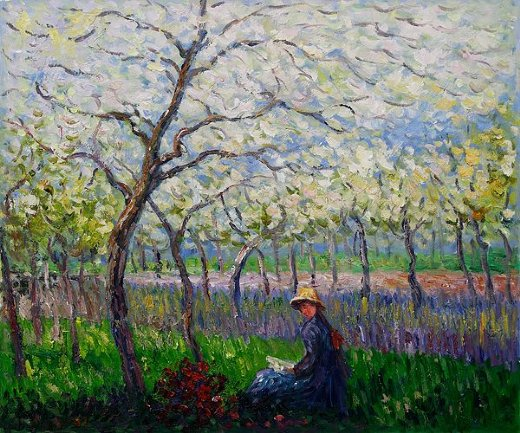 claude monet an orchard in spring ii paintings