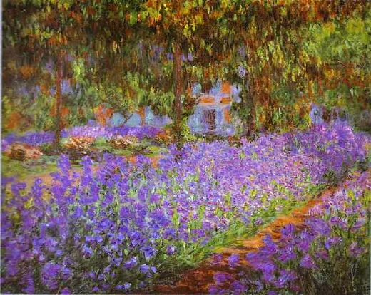 claude monet irises in monet s garden paintings