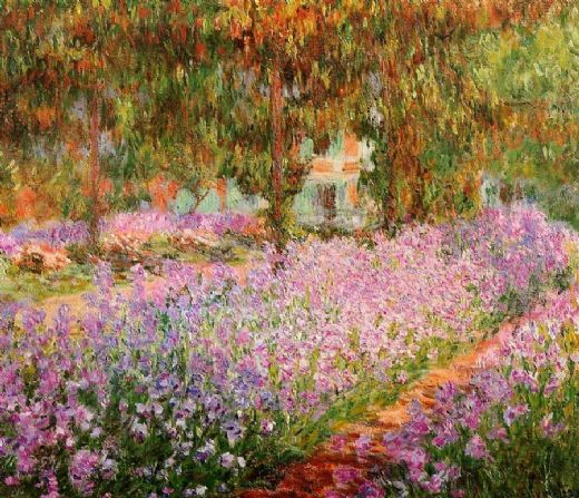 claude monet irises in monets garden painting